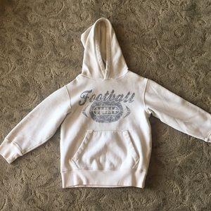 Children's Place distressed cream hoodie